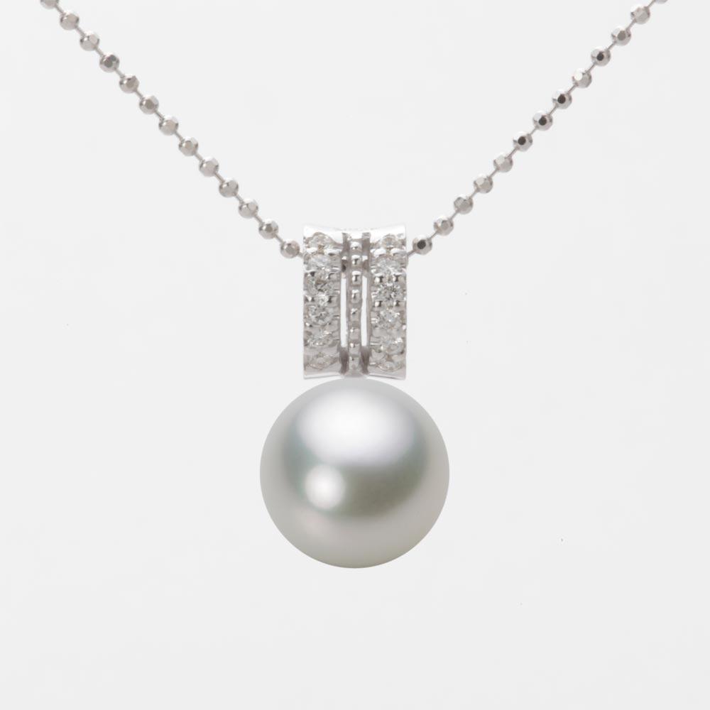 あこや真珠 パール ネックレス 9.0mm アコヤ 真珠 ペンダント K18WG ホワイトゴールド レディース HA00090R13SG01278W