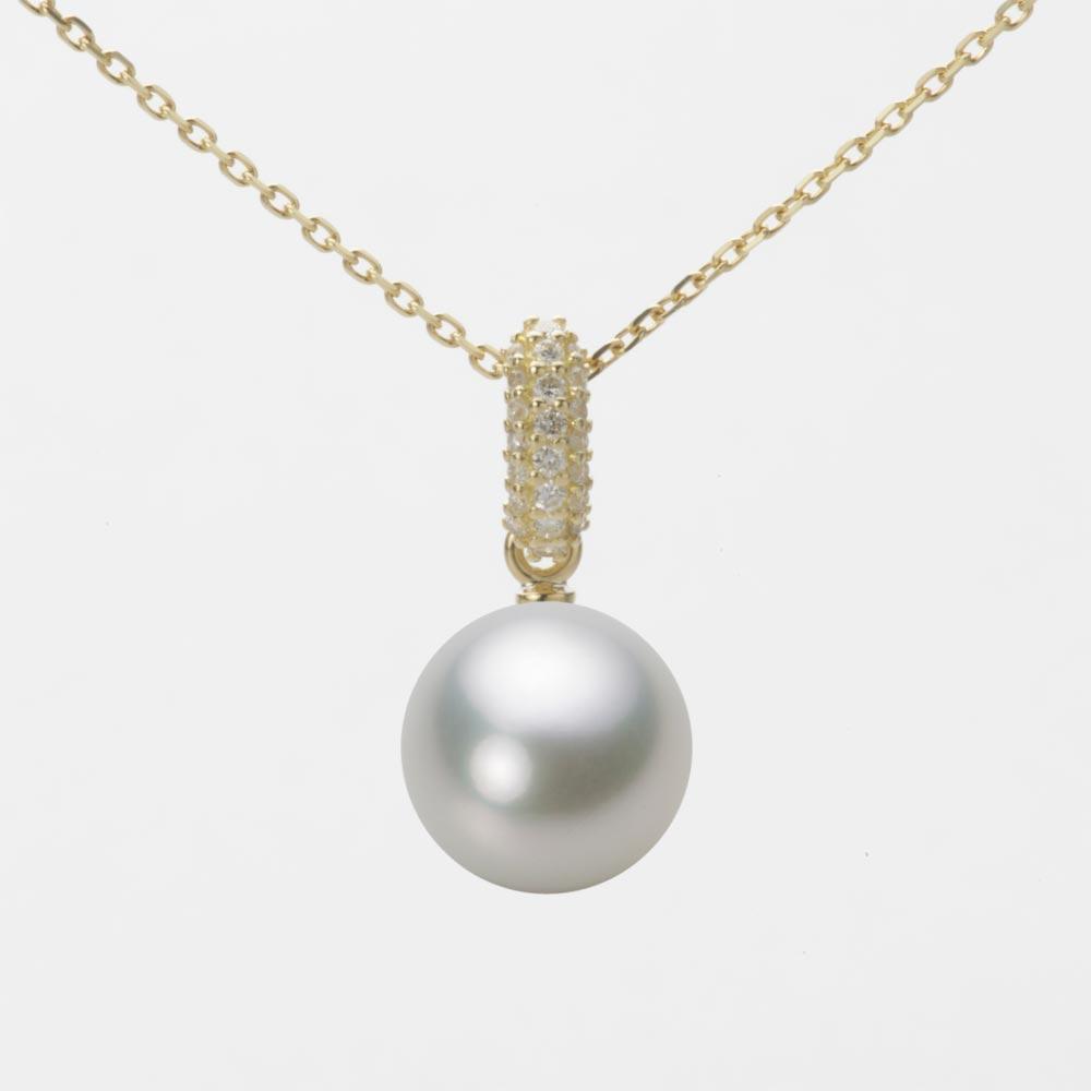 あこや真珠 パール ペンダント トップ 9.0mm アコヤ 真珠 ペンダント トップ K18 イエローゴールド レディース HA00090R13SG01489Y-T