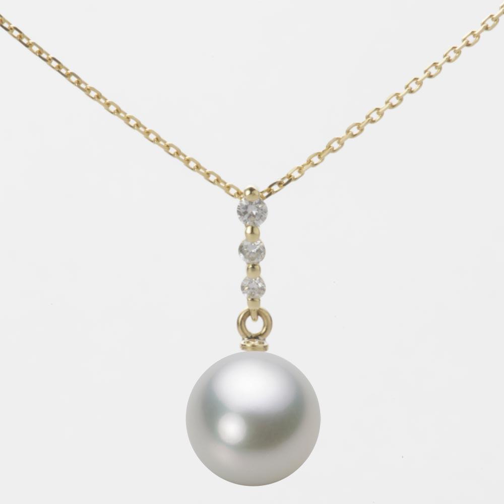 あこや真珠 パール ペンダント トップ 9.0mm アコヤ 真珠 ペンダント トップ K18 イエローゴールド レディース HA00090R13SG0797Y0-T