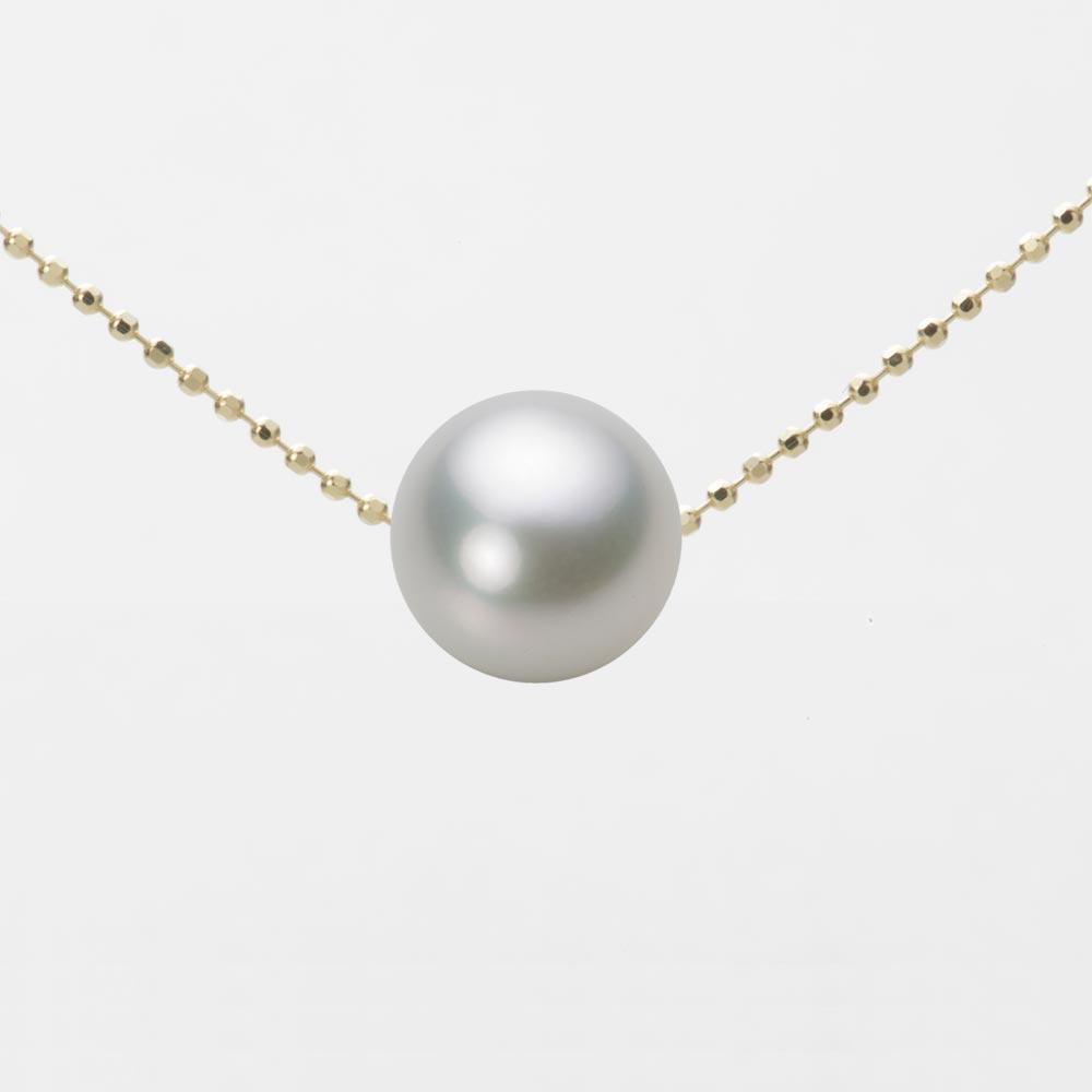 あこや真珠 パール ネックレス 9.0mm アコヤ 真珠 ペンダント K18 イエローゴールド レディース HA00090R13SG0B01YS