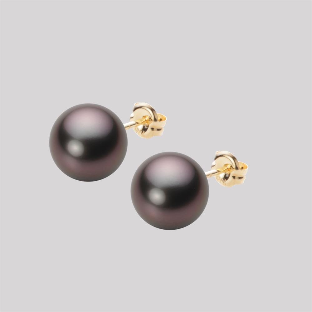 パール ピアス 8mm 黒蝶 真珠 ピアス K18 イエローゴールド レディース NB00008R12RB0PA03Y
