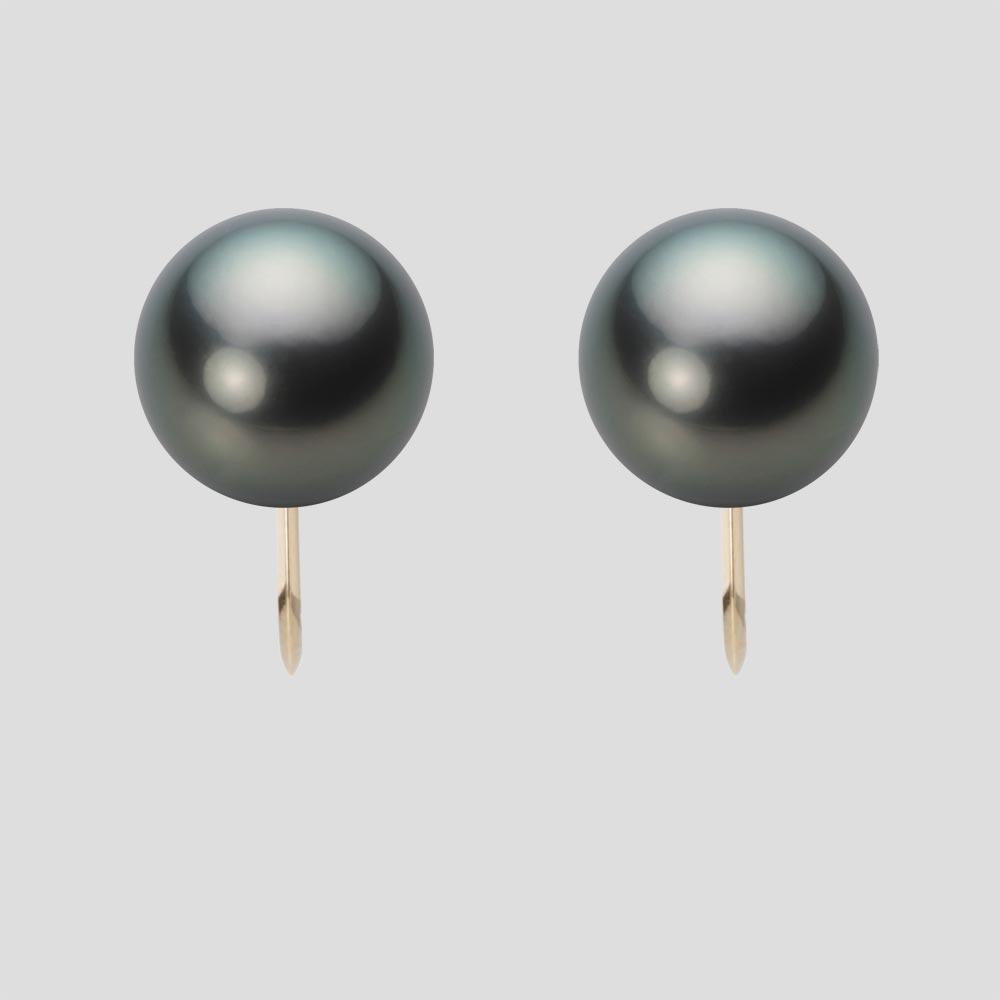 パール イヤリング 10mm 黒蝶 真珠 イヤリング K18 イエローゴールド レディース NB00010R22DG0Y06Y0