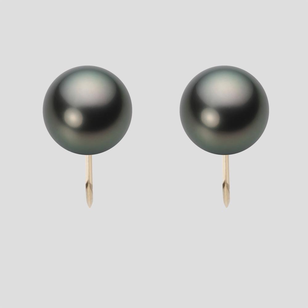 パール イヤリング 10mm 黒蝶 真珠 イヤリング K18 イエローゴールド レディース NB00010R22PC0Y06Y0