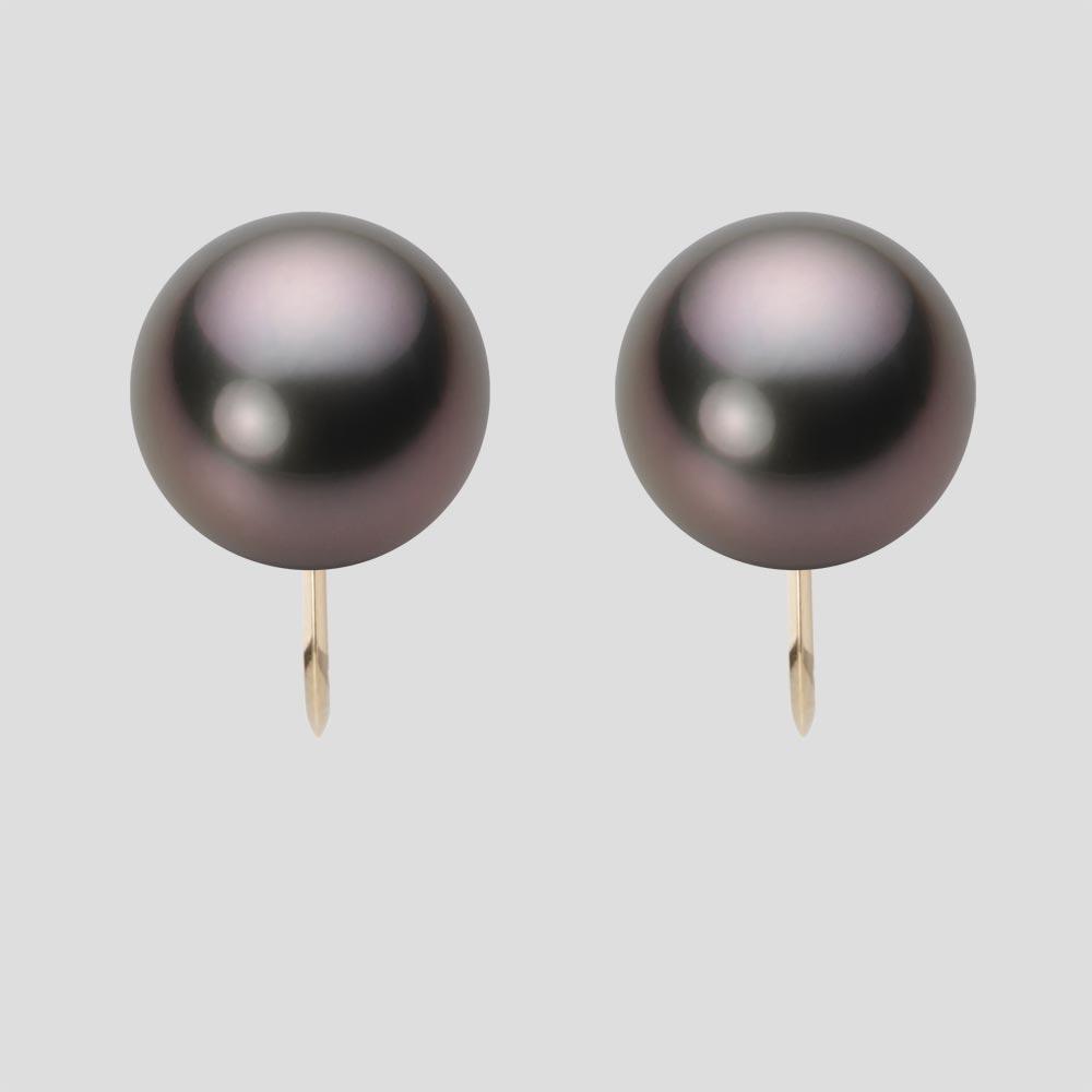 パール イヤリング 11mm 黒蝶 真珠 イヤリング K18 イエローゴールド レディース NB00011R23RB0Y06Y0