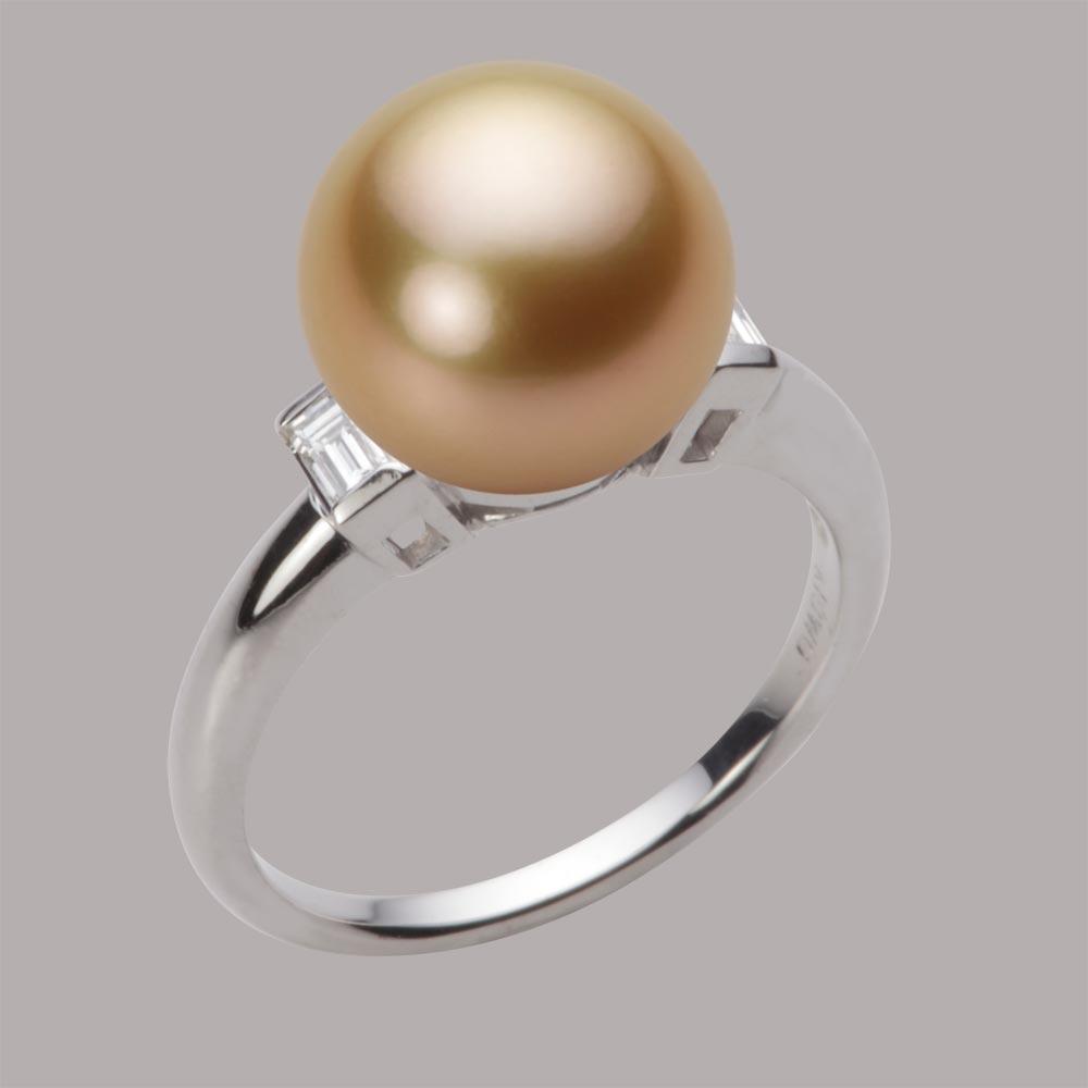 パール リング 10mm 白蝶 真珠 リング K18WG ホワイトゴールド レディース NW00010R21NG0D03W0