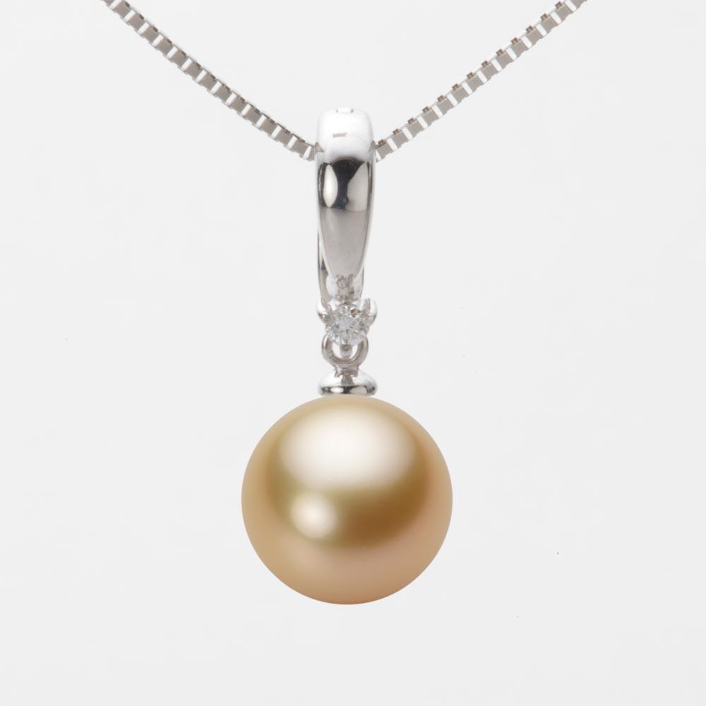 パール ネックレス 10mm 白蝶 真珠 ペンダント K18WG ホワイトゴールド レディース NW00010R23LG0334W0