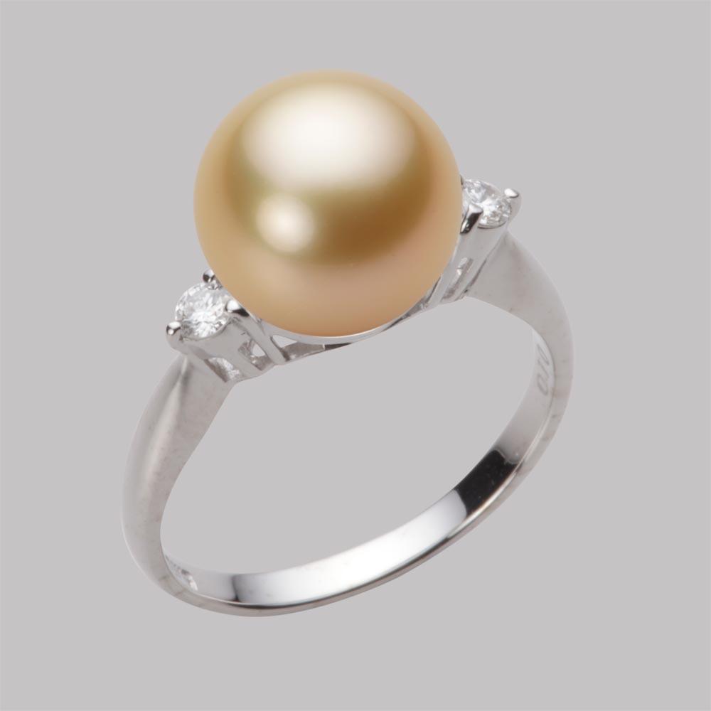 パール リング 10mm 白蝶 真珠 リング K18WG ホワイトゴールド レディース NW00010R23LG0D02W0