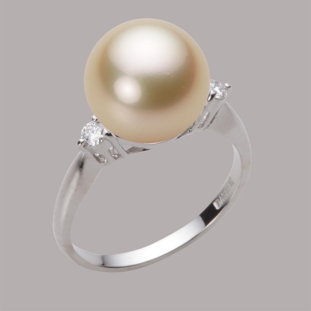 パール リング 11mm 白蝶 真珠 リング K18WG ホワイトゴールド レディース NW00011R12LG0D02W1