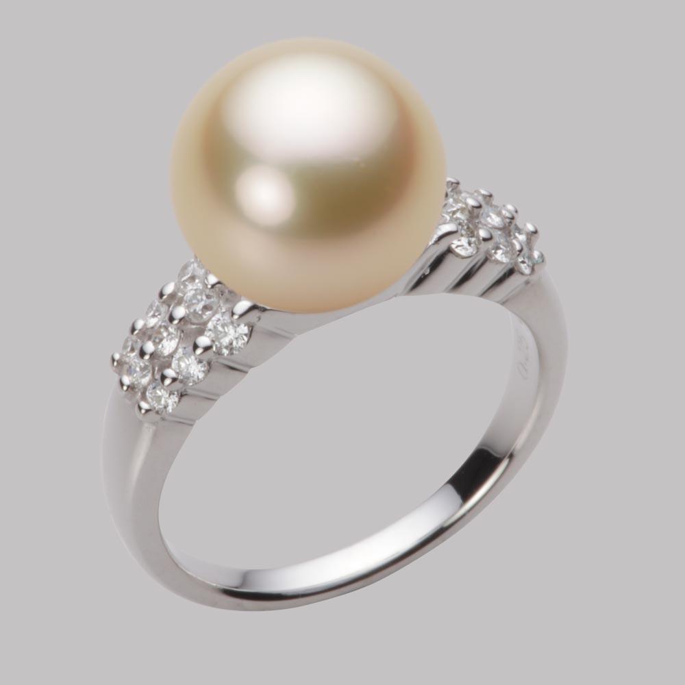 パール リング 11mm 白蝶 真珠 リング K18WG ホワイトゴールド レディース NW00011R12LG0D04W1