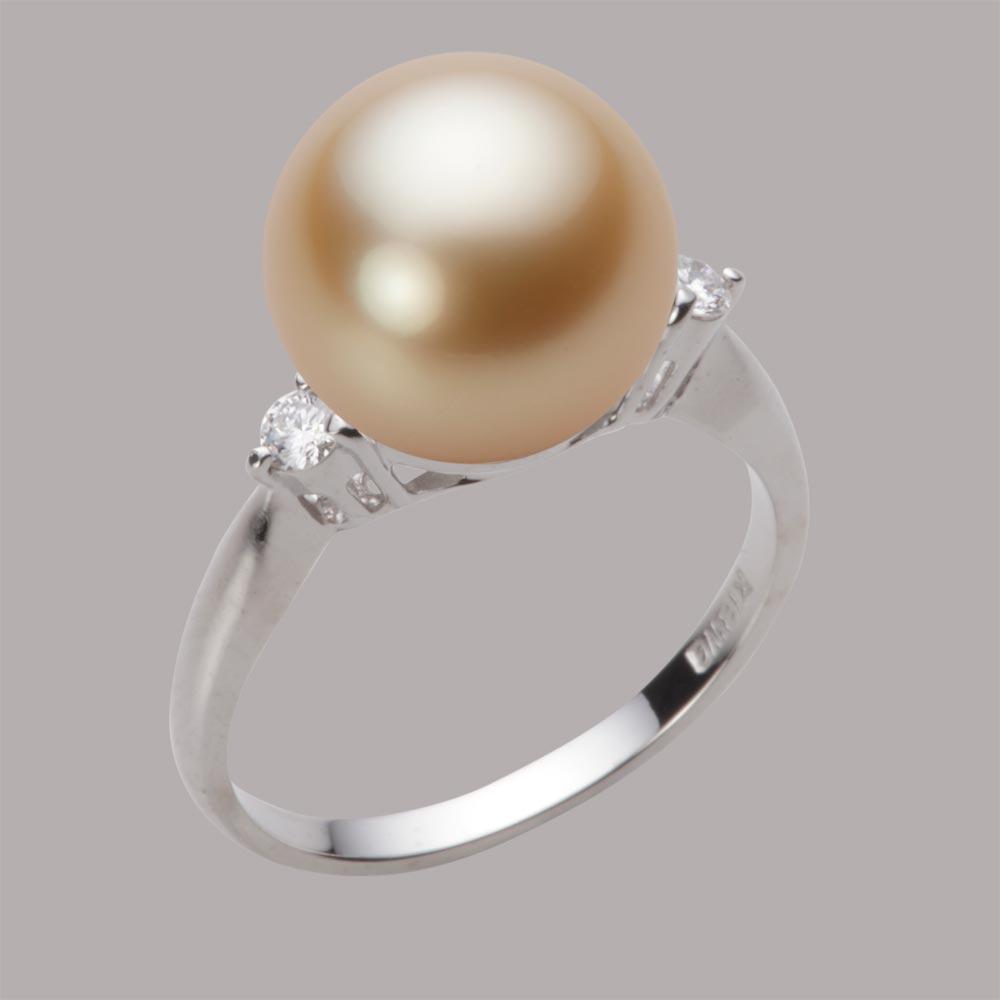 パール リング 11mm 白蝶 真珠 リング K18WG ホワイトゴールド レディース NW00011R13LG0D02W1