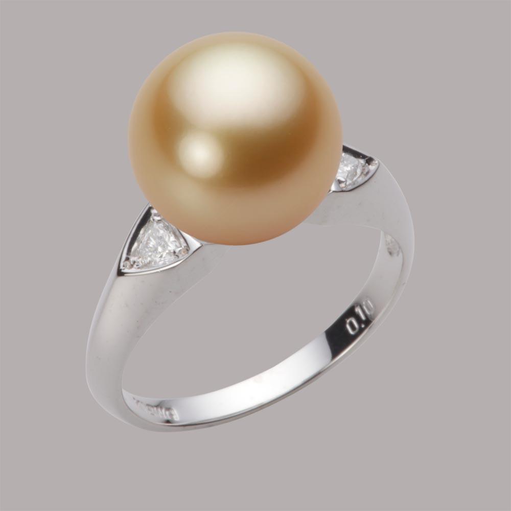 パール リング 11mm 白蝶 真珠 リング K18WG ホワイトゴールド レディース NW00011R13NG0D01W1