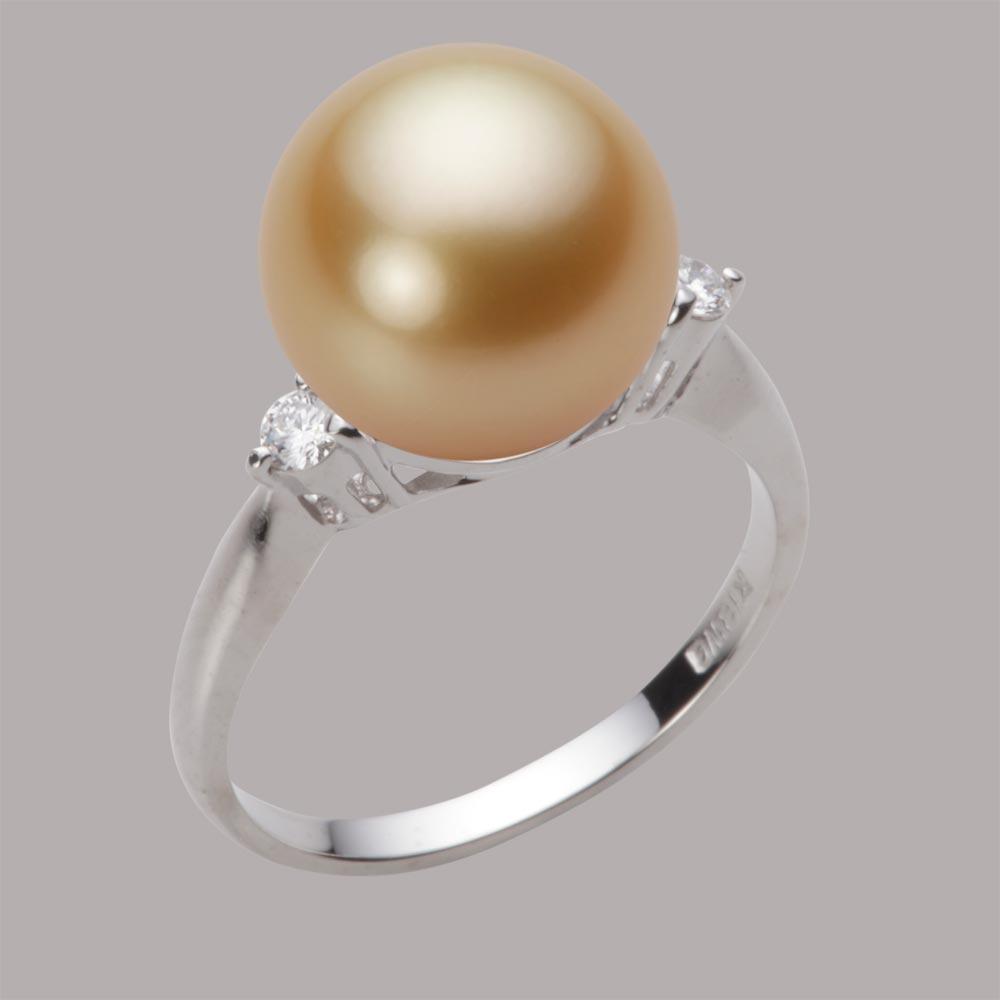 パール リング 11mm 白蝶 真珠 リング K18WG ホワイトゴールド レディース NW00011R13NG0D02W1
