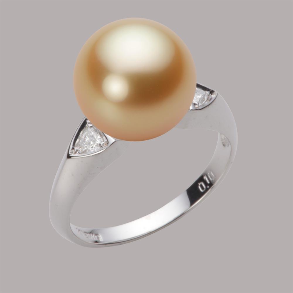パール リング 11mm 白蝶 真珠 リング K18WG ホワイトゴールド レディース NW00011R21LG0D01W1