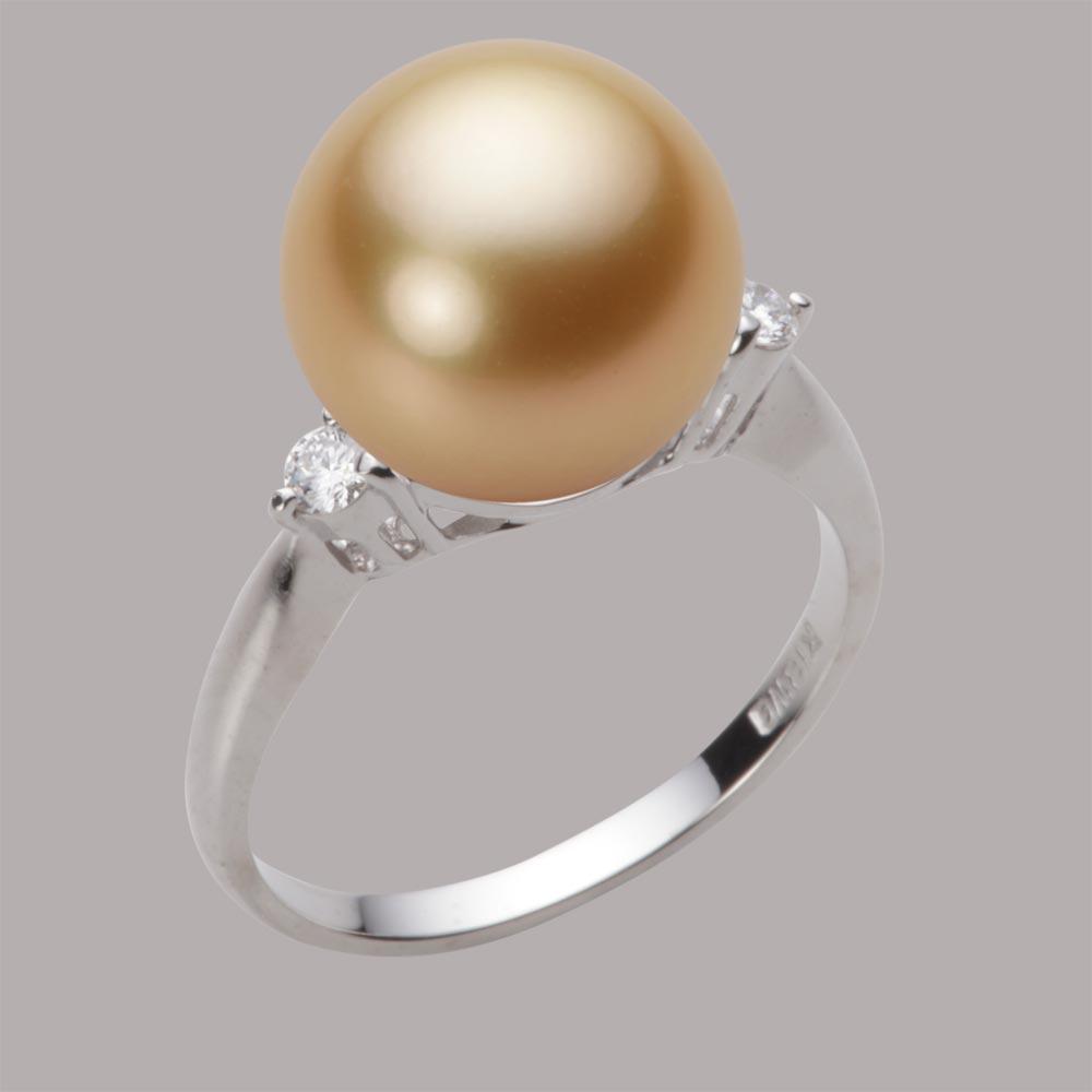 パール リング 11mm 白蝶 真珠 リング K18WG ホワイトゴールド レディース NW00011R22NG0D02W1