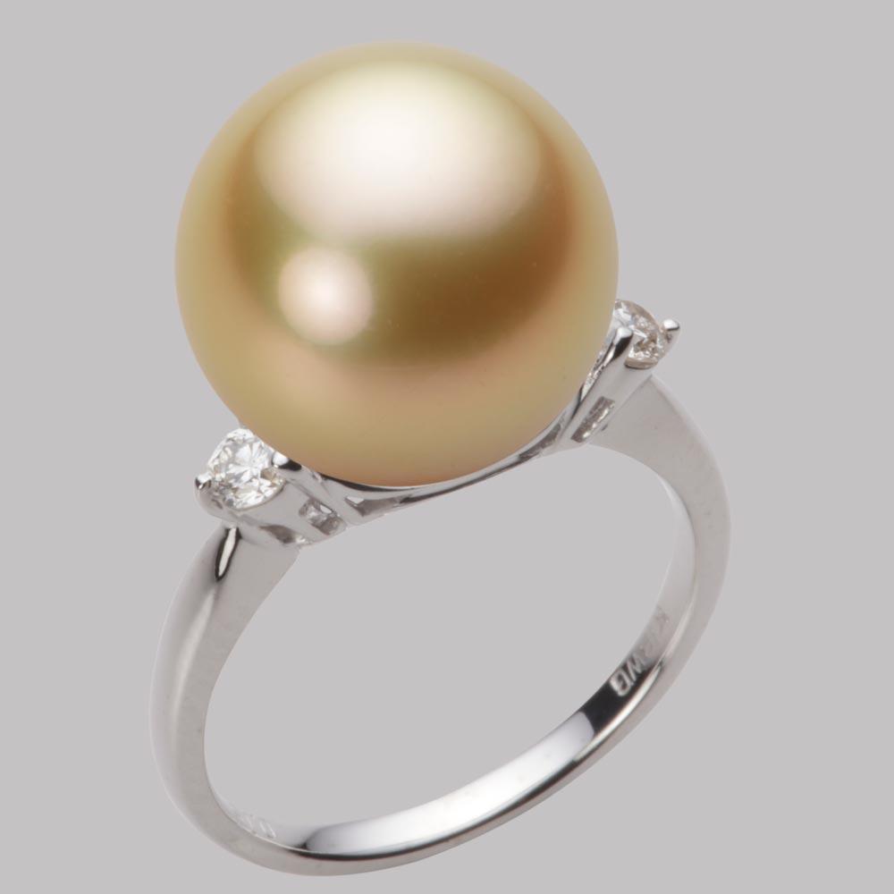 パール リング 13mm 白蝶 真珠 リング K18WG ホワイトゴールド レディース NW00013R12NG0D02W3
