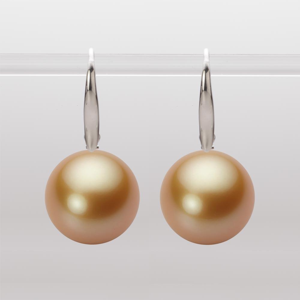 パール ピアス 14mm 白蝶 真珠 ピアス K18WG ホワイトゴールド レディース NW00014R13NG0716W0