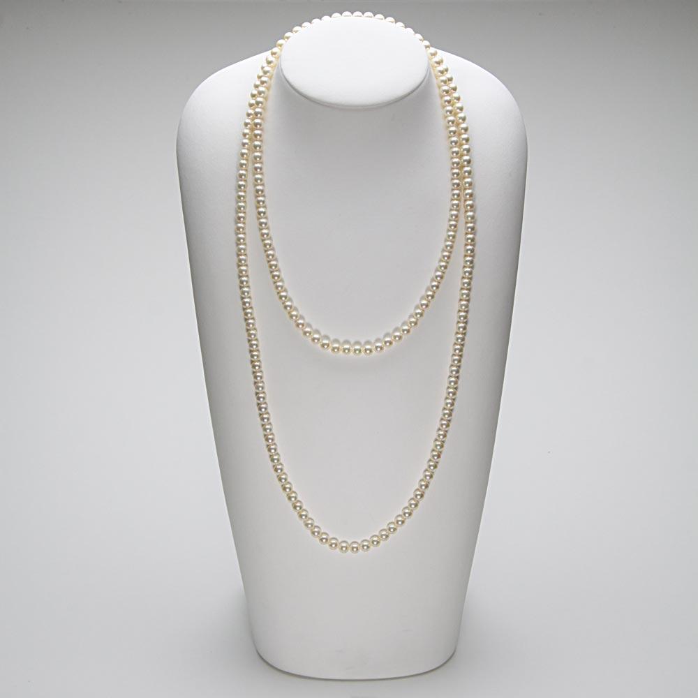 120cm あこや真珠 あこや真珠 ネックレス ロング パールネックレス レディース 6.0mm アコヤ真珠 FIN0103CA0060CGR33 パール ロング