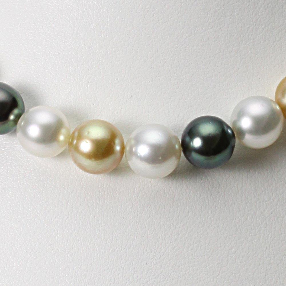 パール ネックレス 9-11mm 南洋真珠 マルチカラー ネックレス レディース FIN0109GN000100000