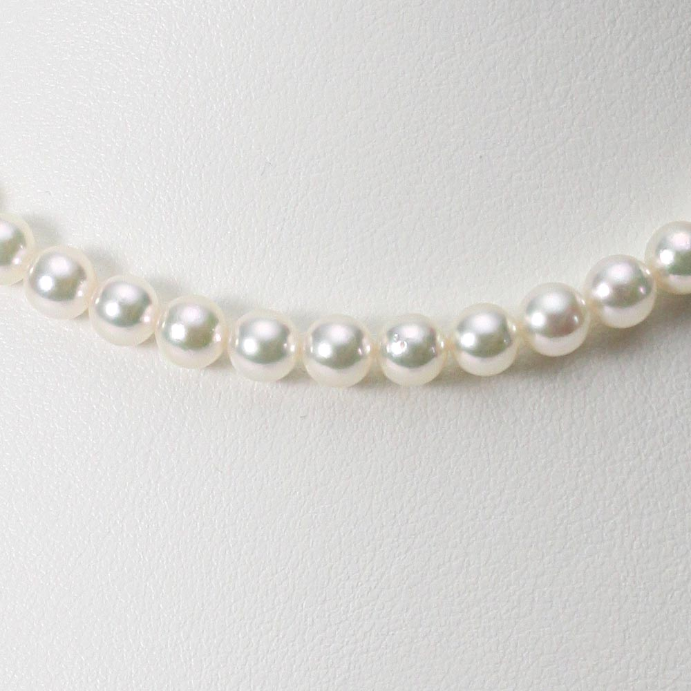 あこや真珠 パール ネックレス 6.0mm アコヤ真珠 ネックレス & イヤリング/ピアス 2点セット レディース FIN6065R33WPG00000