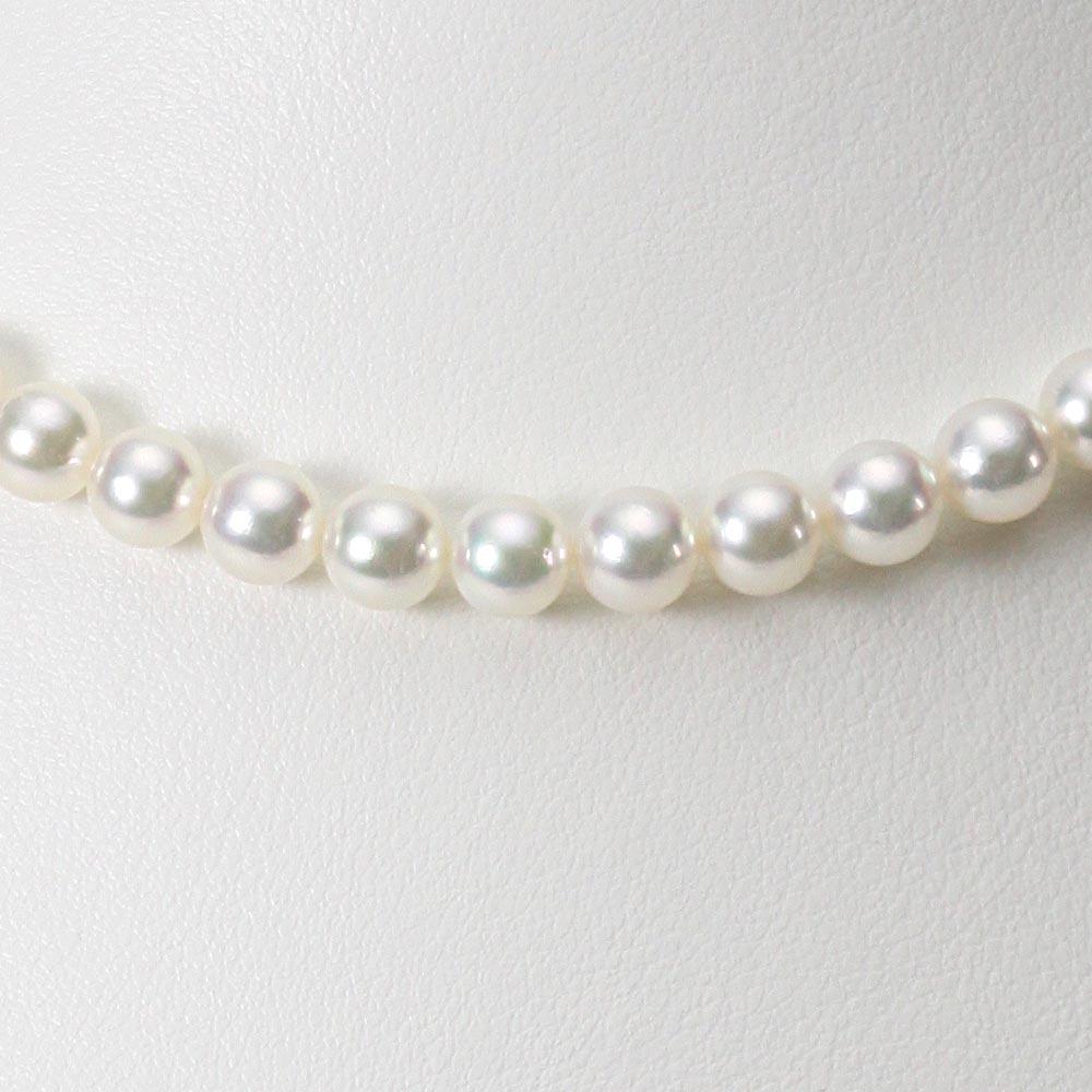 あこや真珠 パール ネックレス 6.5mm アコヤ真珠 ネックレス & イヤリング/ピアス 2点セット レディース FIN6570R33WPG00000