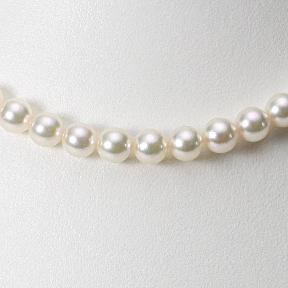 あこや真珠 パール ネックレス 7.0mm アコヤ真珠 ネックレス & イヤリング/ピアス 2点セット レディース FIN7075R33CW000000