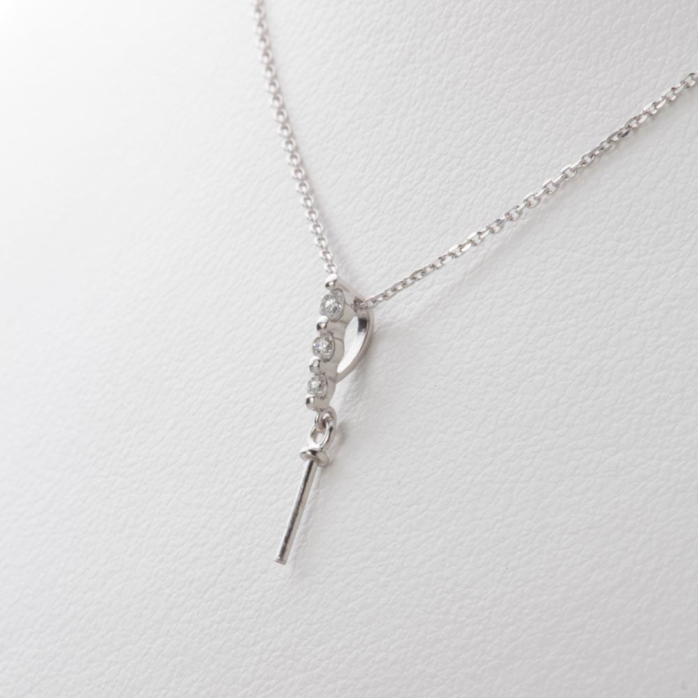 あこや真珠 パール ネックレス 8 5mm アコヤ 真珠 ペンダント K18WG ホワイトゴールド レディース HA00085RvN0Omy8nw