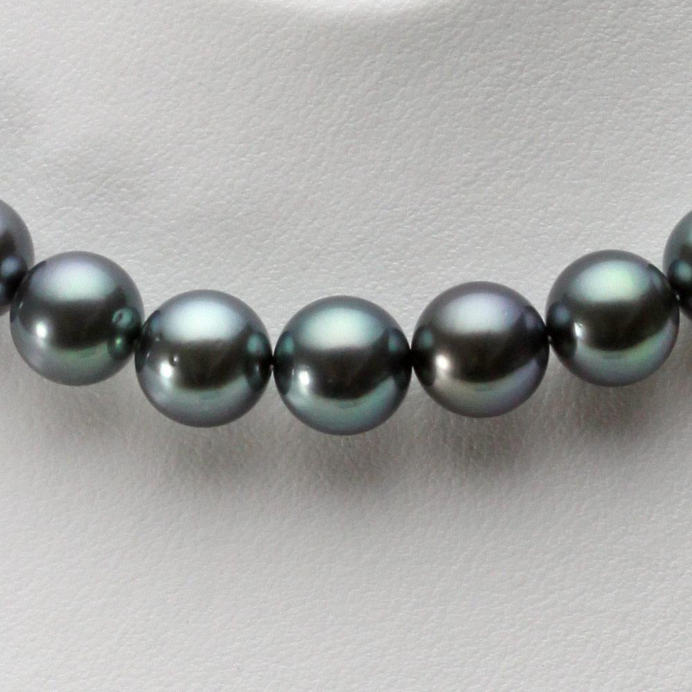 ブラックパール ネックレス 9-11mm 黒蝶 真珠 ネックレス レディース FIN0101GB1109R33DB