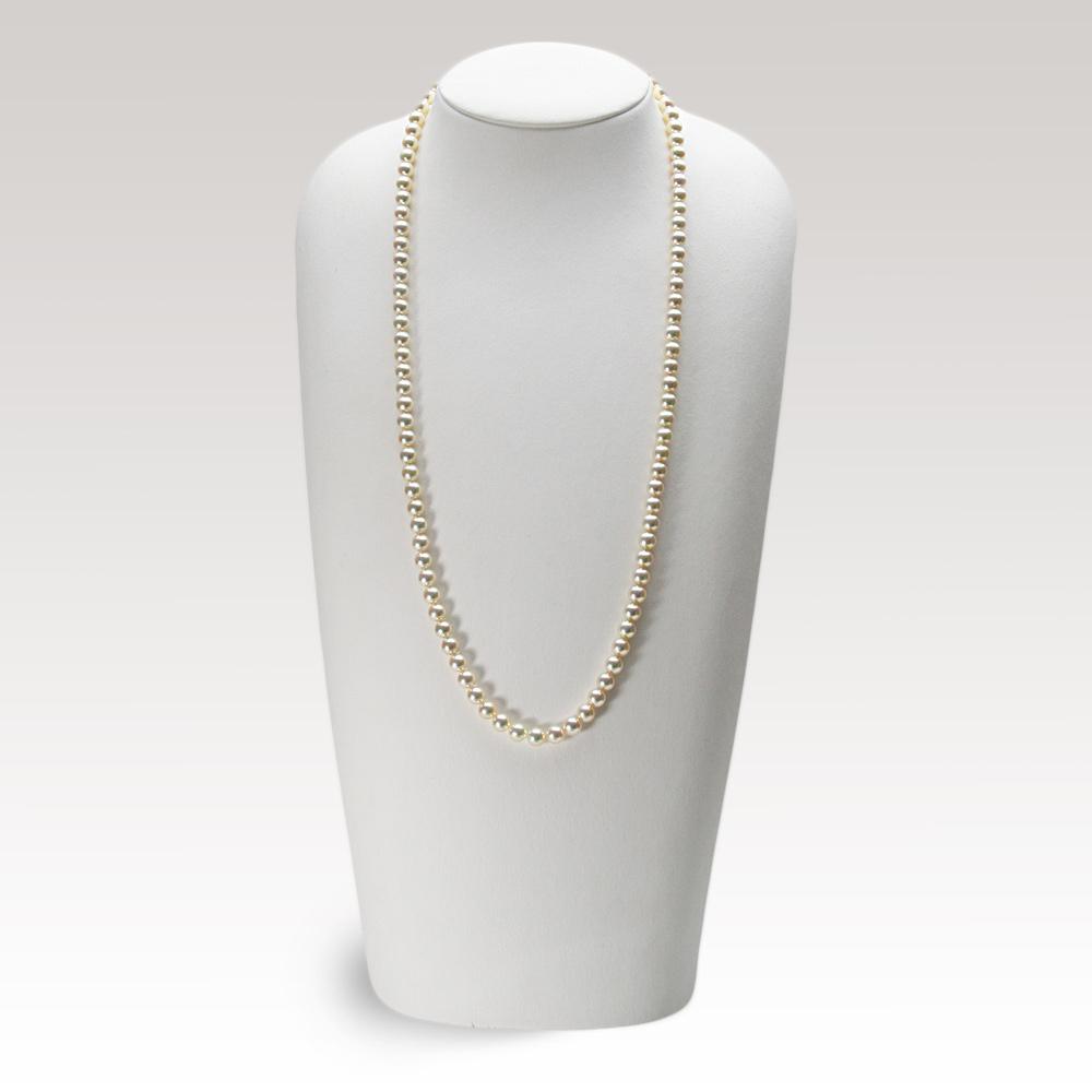 あこや真珠 パール ロング ネックレス 6.5mm アコヤ真珠 60cm セミロング あこや真珠 パールネックレス レディース FIN0102CA0065R33CG
