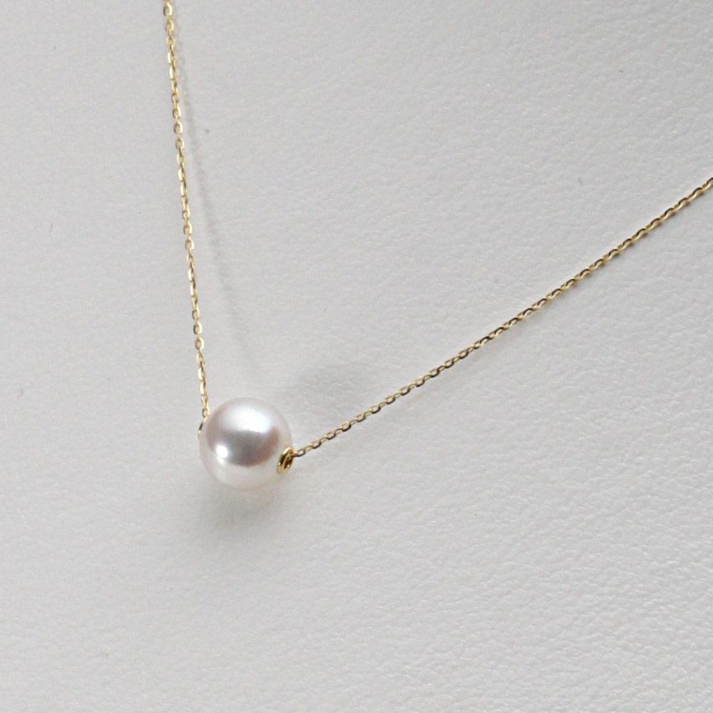 あこや真珠 パール ネックレス 7.5mm アコヤ 真珠 ペンダント K18 イエローゴールド レディース HA00075R33WPGA03YS