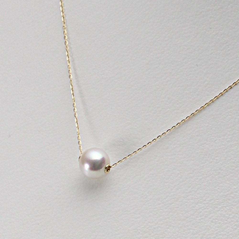 あこや真珠 パール ネックレス 7.5mm アコヤ 真珠 ペンダント K18 イエローゴールド レディース HA00075R33WPNA03YS