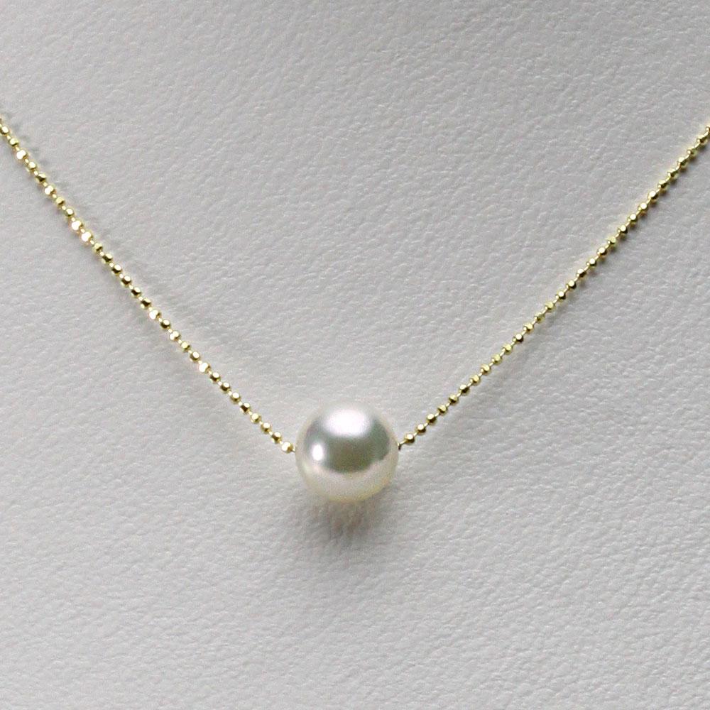 あこや真珠 一粒 パール ネックレス 8.5mm アコヤ 真珠 ペンダント K18YG イエローゴールド レディース HA00085R32NW0B01YS