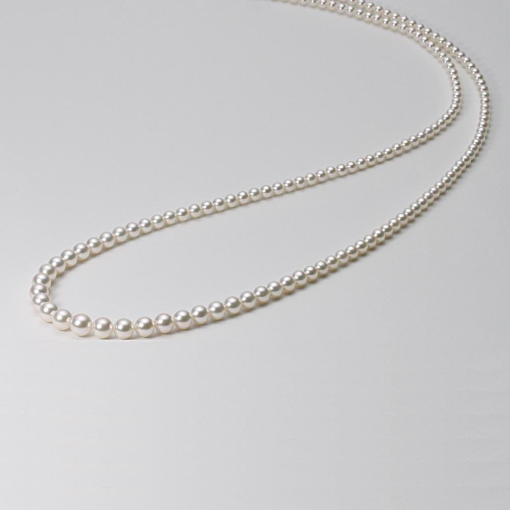 あこや真珠 パール ロング ネックレス 4.5-9.0mm アコヤ 真珠 セミロングネックレス レディース GA09045R13WPG00000