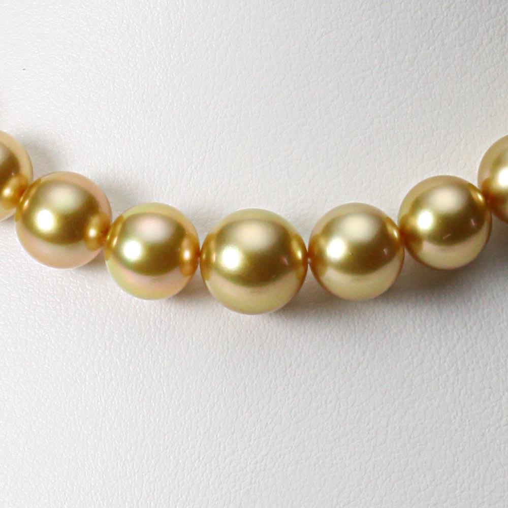 南洋真珠 パールネックレス 10-12mm 白蝶 真珠 ネックレス レディース GW01210R11NG000000