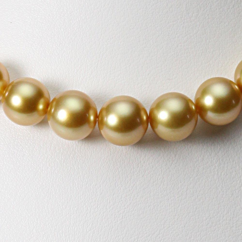 南洋真珠 パールネックレス 10-12mm 白蝶 真珠 ネックレス レディース GW01210R12NG000000