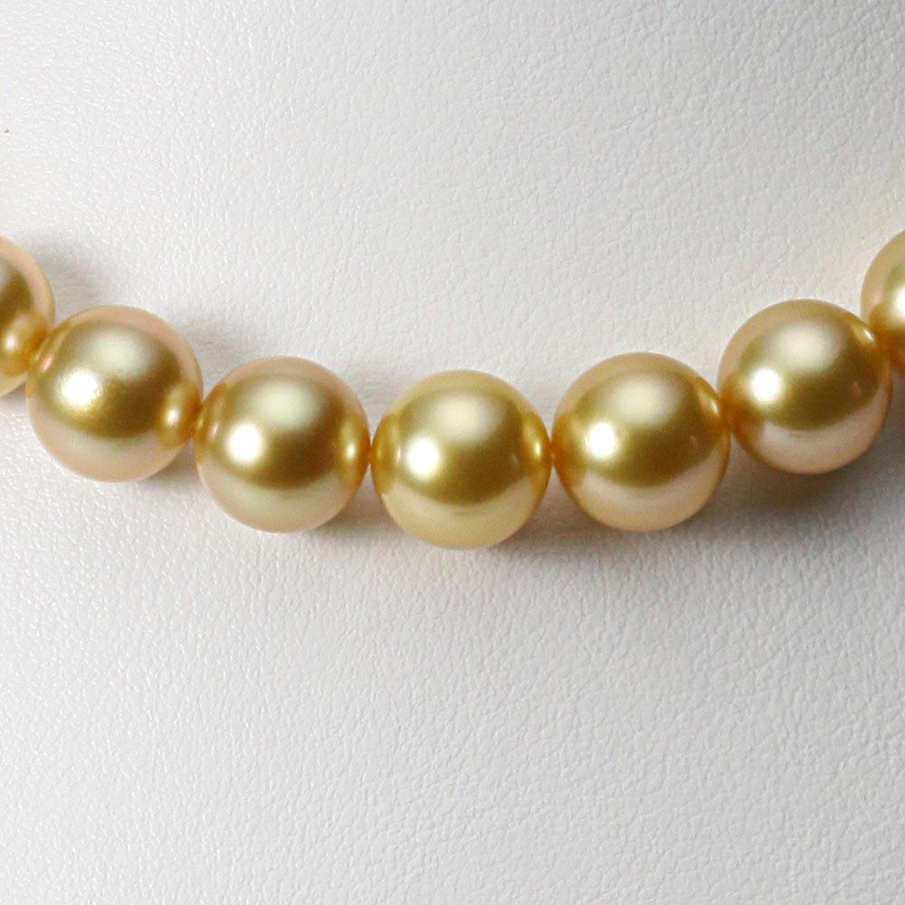 南洋真珠 パールネックレス 10-12mm 白蝶 真珠 ネックレス レディース GW01210R13NG000000
