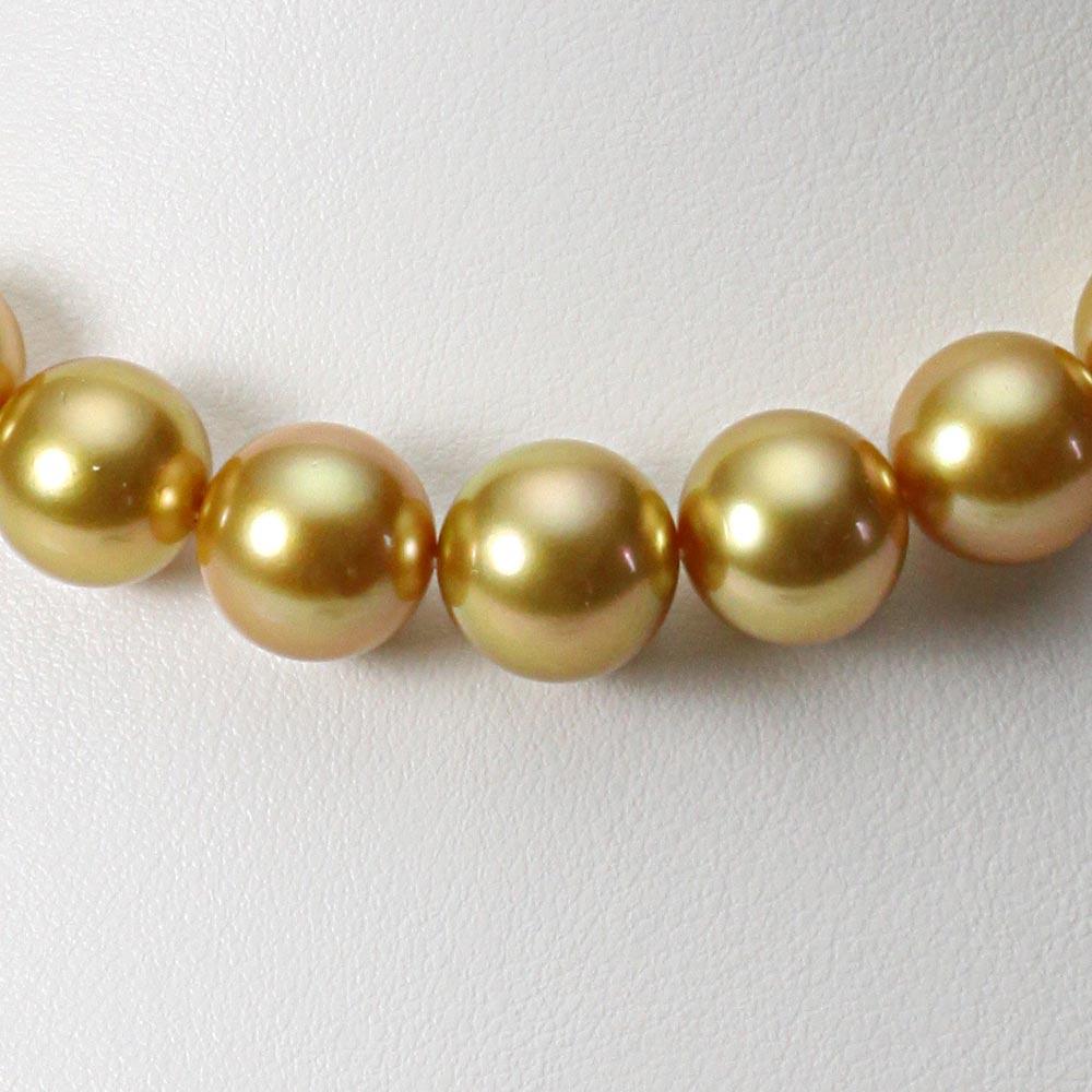 南洋真珠 パールネックレス 10-12mm 白蝶 真珠 ネックレス レディース GW01210R21NG000000