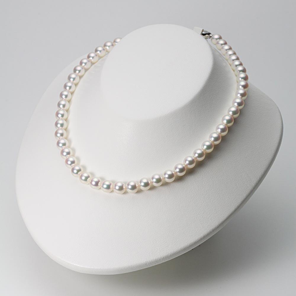 あこや真珠 パール ネックレス プレミアム 8.0mm アコヤ 真珠 ネックレス レディース PRM0080R11WP000000