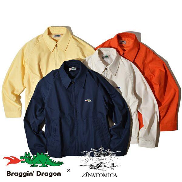 【20%OFFクーポン対象】アナトミカ ブラギンドラゴン ANATOMICA ゴルフジャケット スウィングトップ スイングトップ ドリズラー Braggin Dragon GOLF JACKET メンズ レディース 日本製