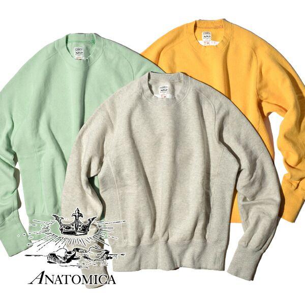 待望の復刻 アナトミカ パーカ スウェットシャツ クルーネック メンズ レディース ANATOMICA SWEAT SHIRTS CREW NECK