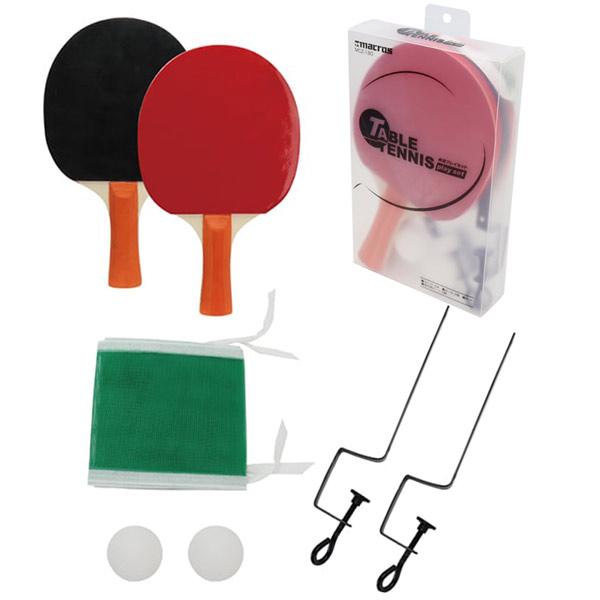 送料無料(北海道沖縄離島除く)卓球プレイセット(ラケット2本・ボール2個・ネット・ネット取り付け用パーツ2個)MCZ-180x2セット/卸