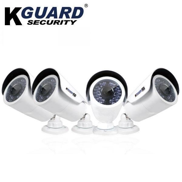 KGURADフルHD 防犯カメラ×4台+2TBHDDレコーダーコンボキット /SMT