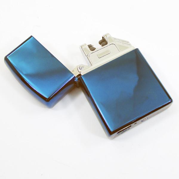 〓MOON〓アーク放電着火でガスいらず 風の影響を受けずアウトドアでの使用にも便利 お得なキャンペーンを実施中 プラズマライター アークライター 送料無料メール便 USB充電式 ブルー ポイント消化 全店販売中