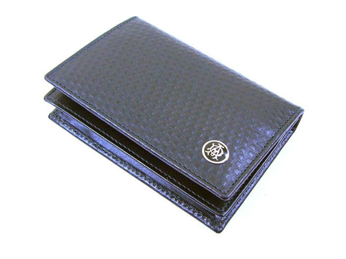 送料無料(北海道沖縄離島除く)ダンヒル/牛革長財布/名刺入れ カードケース/L2V347A BLACK