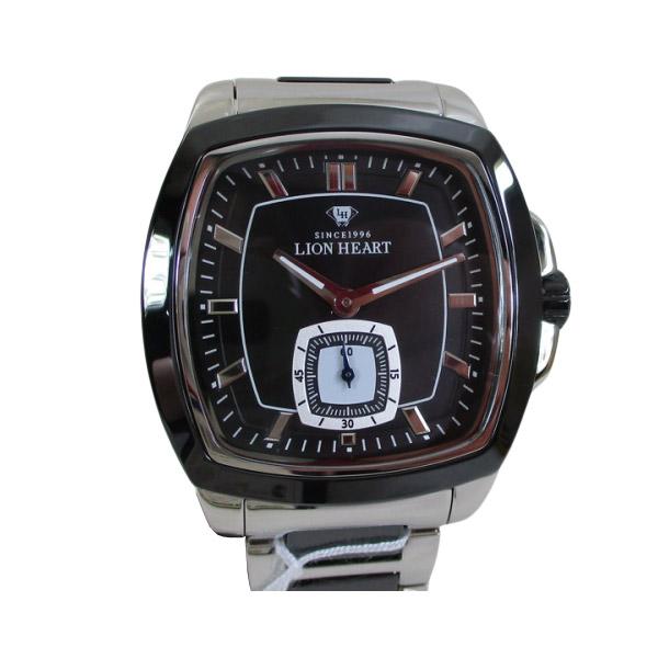 ライオンハート メンズ 紳士腕時計 黒文字盤 メタルバンド LHW102SBK/5867/送料無料