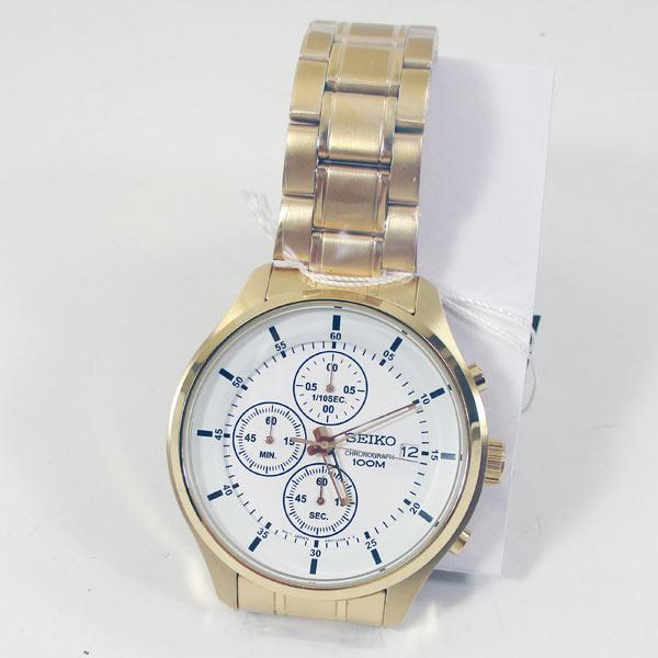 SEIKOセイコー クロノグラフ クオーツ 腕時計 SKS544P1 ホワイト/送料無料