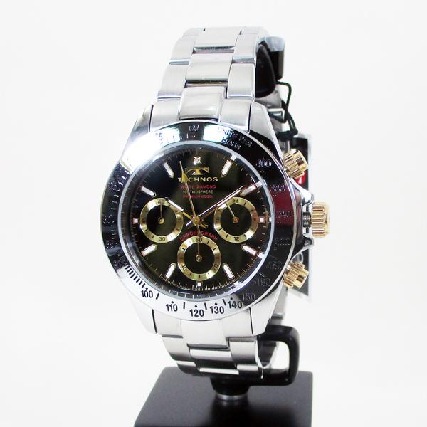 テクノス 腕時計 クオーツ 10気圧防水 クロノグラフ T4683L黒文字盤 メンズ 限定プレミアモデル /送料無料