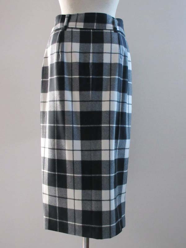 Checked pattern skirt [Max Mara] with MAXMARA white label belt
