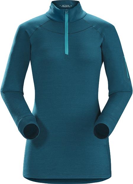アークテリクス(ARC'TERYX)WOMEN'Sサトロ AR LS ジップネックシャツ(Satoro AR LS Zip Neck Shirt)カラー:Oceanus