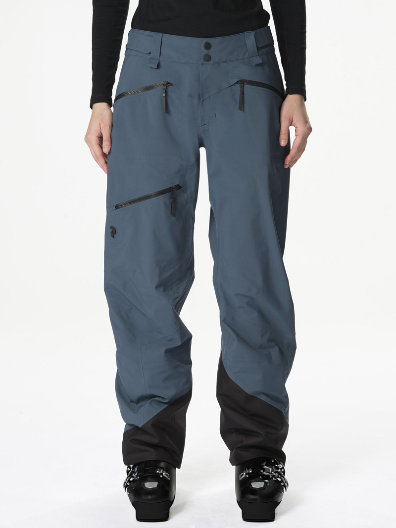 ピークパフォーマンス(PeakPerformance)WOMENS Teton Pantsカラー:2Z8 Blue Steel