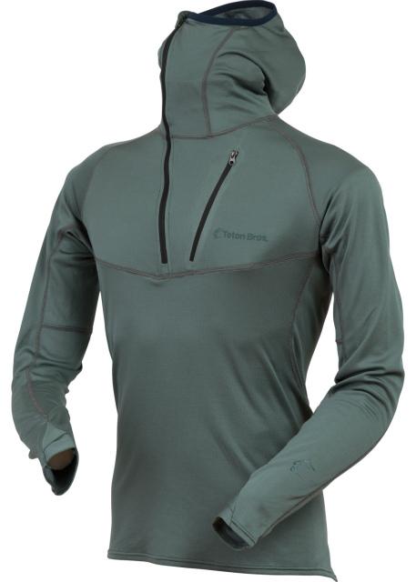ティートンブロス(TetonBros.)パワーウールミッドウェイトフーディー(Power Wool MW Hoody)カラー:Gray
